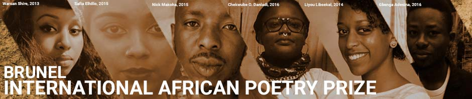 Header featuring the faces of six African poets